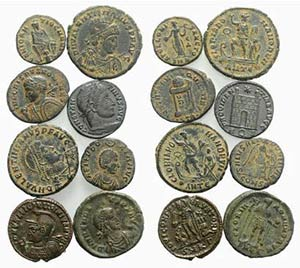 Lot of 8 Late Roman Imperial Æ coins, to be ...