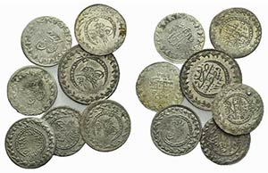 Lot of 7 AR Islamic coins, to be catalog. ...