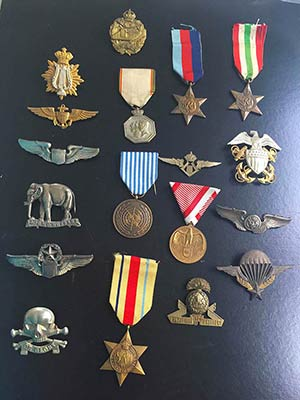 Lot of 18 Military Decorations. Lot sold as ...