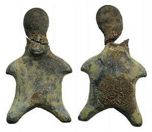 Greek Bronze Idol, c. 8th-7th century BC ...