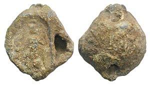 Roman Pb Seal, c. 3rd-1st century BC (22mm, ...