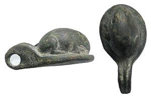 Roman Bronze Mouse Figurine with suspension ...