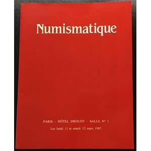 Bourgey M.E. Numismatique Salle No. 1. ...