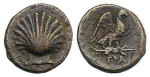 Southern Apulia, Graxa, c. 250-225 BC. Æ ...