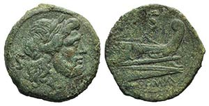 Anonymous, Rome, after 211 BC. Æ Semis ...