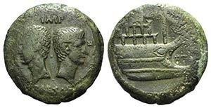 Octavian and Divus Julius Caesar, c. 36 BC. ...