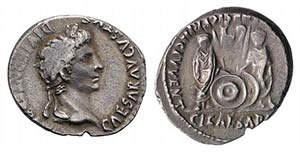 Augustus (27 BC-AD 14). AR Denarius (18.5mm, ...