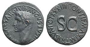 Augustus (27 BC-AD 14). Æ As (28mm, 10.57g, ...
