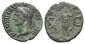 Agrippa (died 12 BC). Æ As (29mm, 10.06g, ...