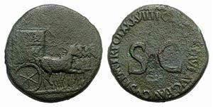 Tiberius (14-37). Æ Sestertius (33mm, ...