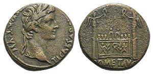 Tiberius (14-37). Æ Dupondius (24mm, ...