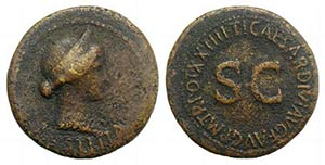 Julia Augusta (Livia, Augusta, AD 14-29). Æ ...
