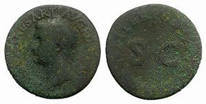 Drusus (Caesar, 19-23). Æ As (29mm, 9.62g, ...