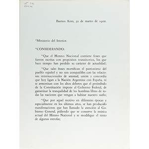 Testo dell'inno nazionale argentino donato ...