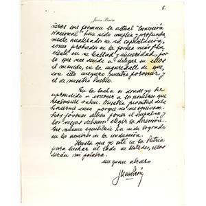 Lettera del Generale Perón ai suoi ...