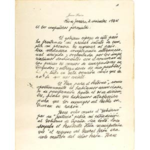 Lettera del Generale Perón ai ...