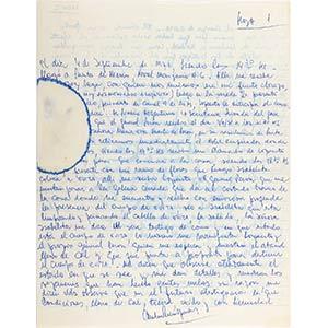 Lettera originale dell'imprenditore Carlos ...