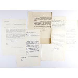 Sei lettere originali scritte al Generale in ...