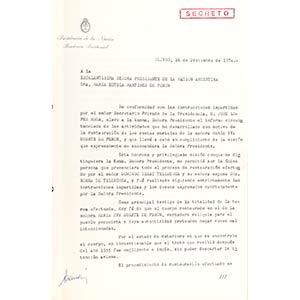 Rapporto top secret del 17 dicembre 1974 ...