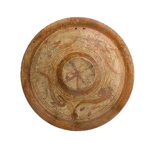 Piatto etrusco con aironi ...