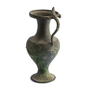 Olpe magnogreca in bronzo  IV - III secolo ...