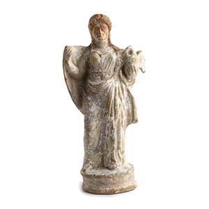 Tanagrina con cigno Magna Grecia, fine del ...