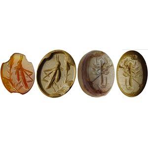 Lotto di due intagli romani composto da: ...