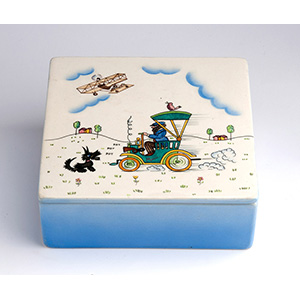 LENCI - TORINOSquare box with lid, decorated ...