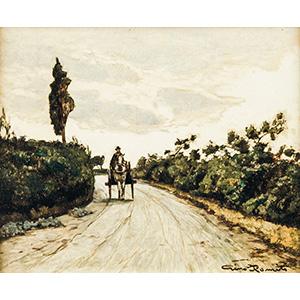 GINO ROMITILivorno 1881-1967Countryside path ...