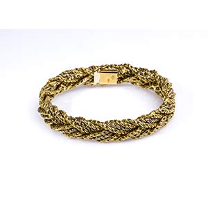 GOLD BRAIDED BRACELETRealized in yellow and ...