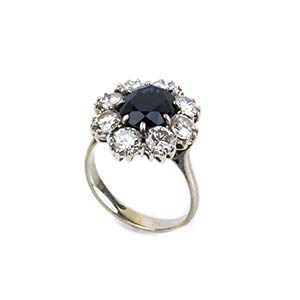 SAPPHIRE AND DIAMOND GOLD RINGRealized in ...