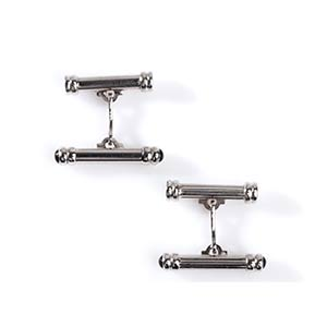 PAIR OF WHITE GOLD CUFFLINKSRealized as ...