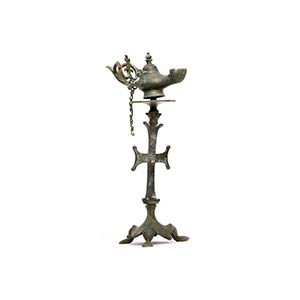 Byzantine Bronze Lamp on a Pricket Stand5th ...
