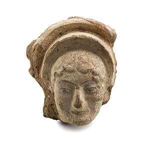 Etruscan Maenad Head AntefixLate 6th century ...