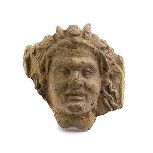 Etruscan Young Satyr Head Antefix4th century ...