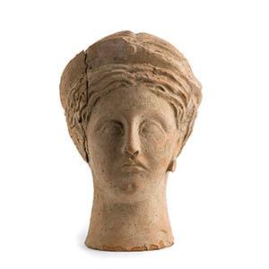 Roman Terracotta Votive Portrait of a ...