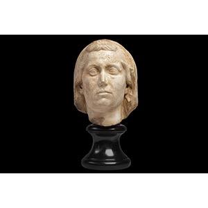 Roman Marble Portrait of a Veiled Older ...