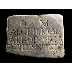 Roman Marble Gravestone of Aulus Egrilius ...