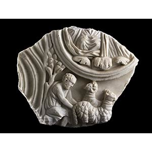 Roman Marble Relief With Bucolic Scene3rd ...