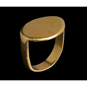 A greek gold ring. Smooth bezel. Sample from ...
