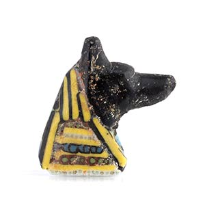Egyptian Anubis Head mosaic glass ...