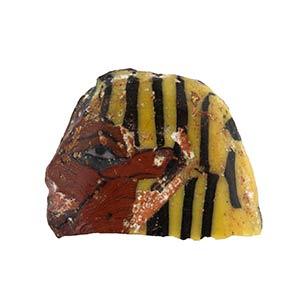 Egyptian Ushabti Head mosaic glass ...