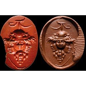 Intaglio romano in diaspro rosso. Gryllos, ...