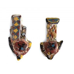 Couple of Egyptian Uraei mosaic ...