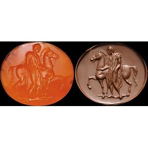 Intaglio romano repubblicano in corniola ...