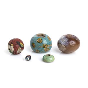 Group of five Egyptian Beads1st century BC - ...