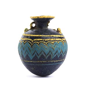 Etruscan core-formed glass Aryballos4th - ...