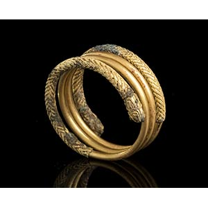 Etruscan Gold Spiral Ring7th - 6th century ...