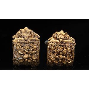 Pair of Etruscan Gold Bauletto Earrings ...