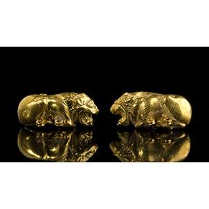 Etruscan Gold Lion-Shaped Belt HookFirst ...